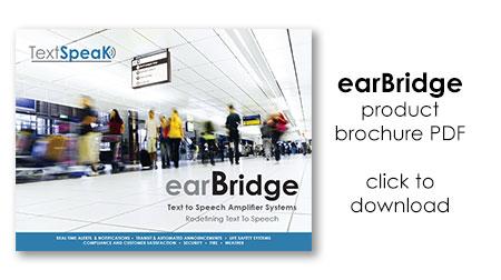 TextSpeak earBridge Brochure PDF - click to download